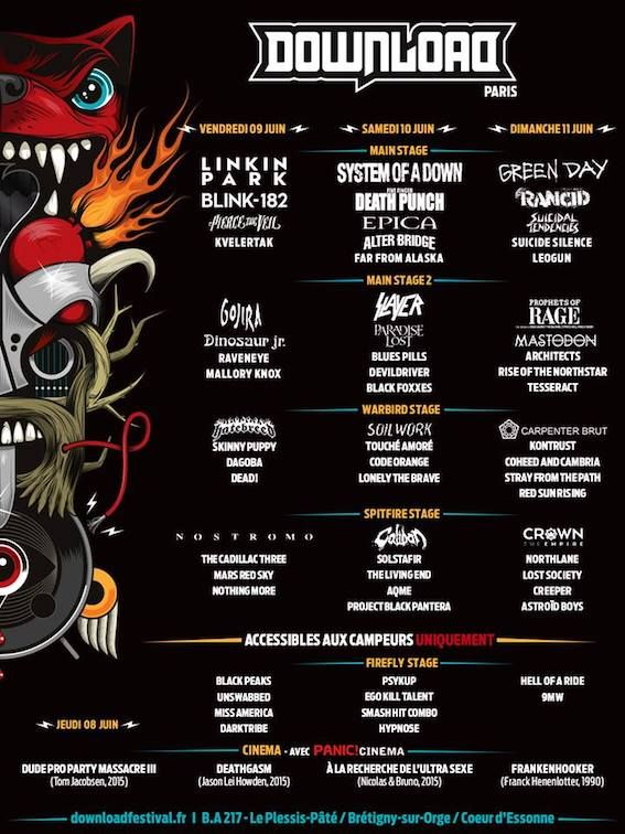 Stray From The Path et Mallory Knox rejoignent l'affiche du Download France, Wakrat annule...