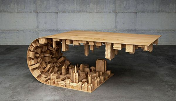Stelios Mousarris : Wave City Coffee Table