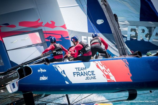 Team France Jeune se qualifie pour les finales de la Red Bull Youth America's Cup.