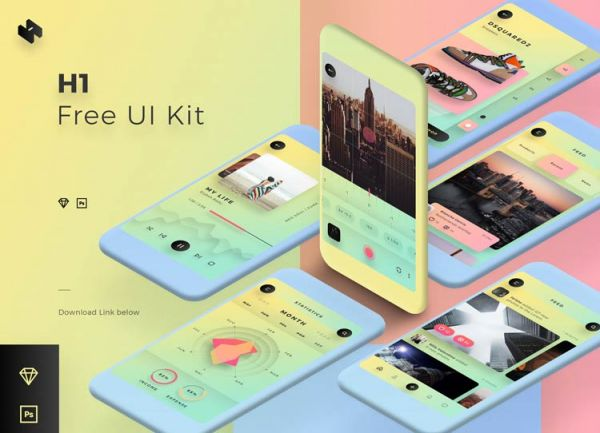H1 : un UI Kit iPhone pour présenter vos applications mobiles