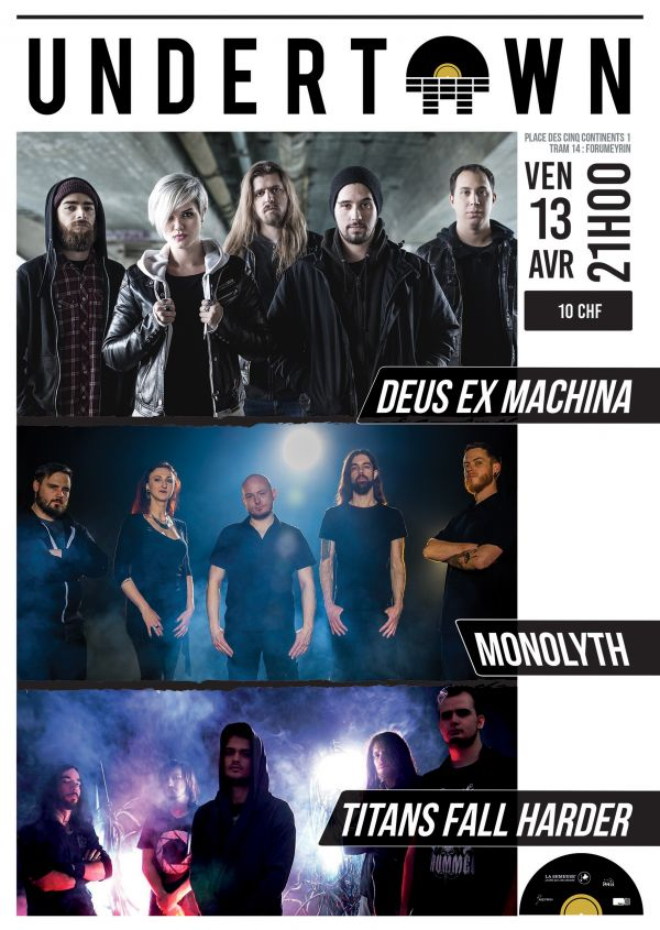 DEUS EX MACHINA sera de retour à l'Undertown de Meyrin le vendredi 13 avril !