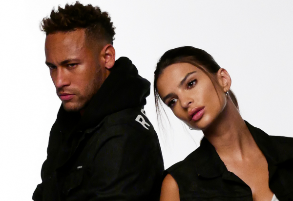 Emily Ratajkowski et Neymar posent ensemble pour Replay... [Photos]