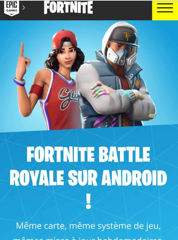 le jeu Fortnite Battle Royale disponible pour Android sans invitation