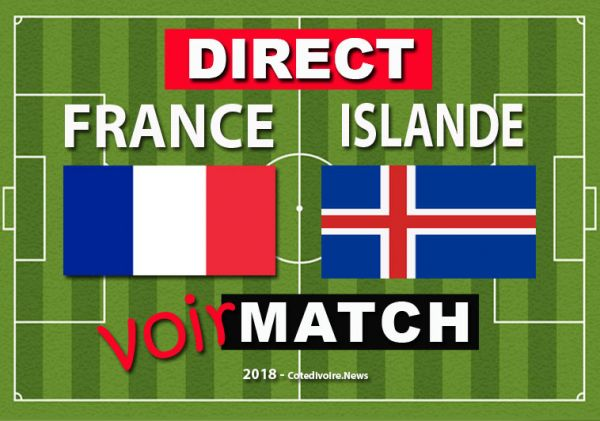 Match France Islande en direct : suivez la rencontre en live (1-0 mi temps)