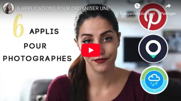 6 applications pour organiser une séance photo