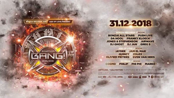 3 x 1 pass à gagner - In With a Bang 2018 @ Gand le 31/12/2018