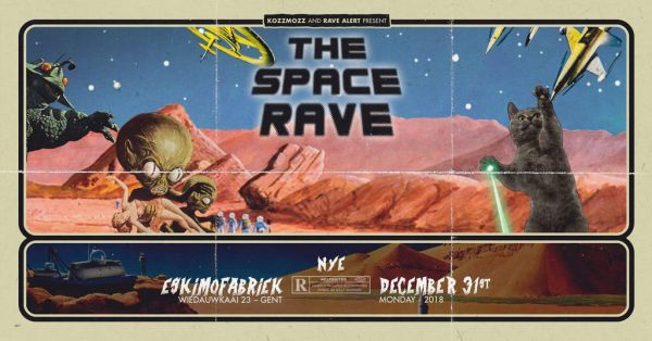 3 x 1 pass à gagner - The Space Rave @ Gand le 31/12/2018