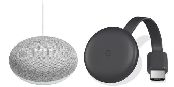 Boulanger : assistant vocal Google Home Mini + Chromecast Video à 74,90 €