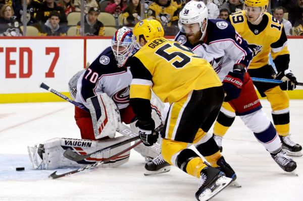Les Penguins blanchissent les Blue Jackets 3-0