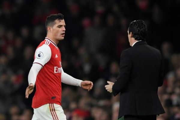 Foot - ANG - Arsenal - Granit Xhaka n'est plus le capitaine d'Arsenal, Unai Emery nomme Pierre-Emerick Aubemayang à sa place