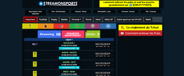 Streamonsports | Streaming Gratuit