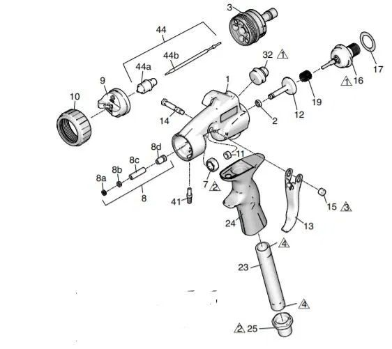 Graco HVLP Edge II spray gun – Technical drawing & spare parts order list - Airless Discounter - News for Home Painters
