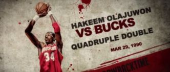 Hakeem Olajuwon, son quadruple-double en 1990 contre les Bucks