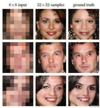 L'Intelligence artificielle de Google recompose un visage à partir de quelques pixels