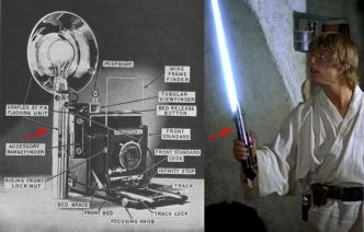 Le sabre laser original de Star Wars est un appareil photo