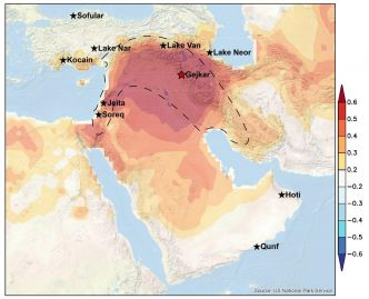 Recent droughts in the Middle East were most severe for over a millennium