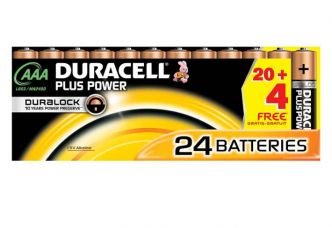 13,62€ les 24 piles Duracell Plus Power AAA port inclus 🔋 (14,06€ 24xAA Duracell)