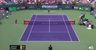 La confiance absolue de Roger Federer en smash (Indian Wells 2017)