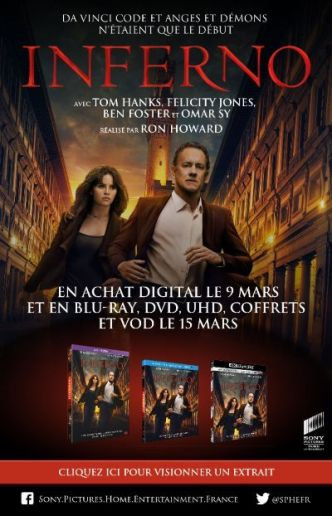 [Concours] Inferno : gagnez 2 Blu-ray et 1 DVD