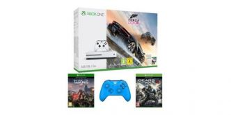 Xbox One S 500 Go + Forza Horizon 3 + Halo Wars 2 + Gears of War 4 + 2ème Manette à 329€