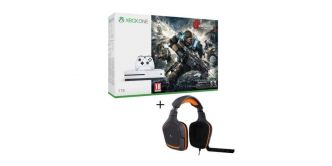 Xbox One S (1 To) + Gears of War 4 + Micro-casque Logitech pour 299€