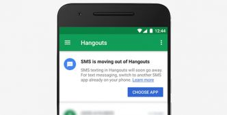 Google abandonne le support des SMS dans son application Hangouts