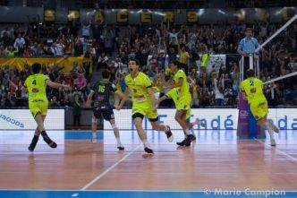 Volley-ball : les Spacers de Toulouse s'imposent face à Nice en demi-finale aller