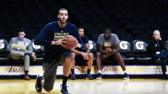 Basket - NBA : Rudy Gobert applaudi par le coach de l'Utah Jazz