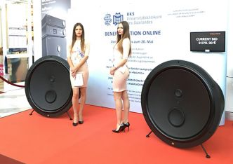 High End Munich 2017 : Volya NoLimits, une enceinte en forme de gigantesque woofer
