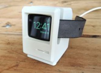 "Test du support ""mini Macintosh"" Elago W3 : la recharge Apple Watch avec style !"
