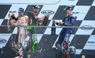 MotoGP de France : interview des pilotes sur le podium