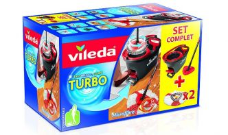 Amazon : Set complet Vileda balai, seau Easy Wring & Clean Turbo + recharges à 32,50€