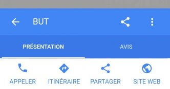 Google Local propose 2 options de visualisation de la fiche entreprise