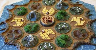 Settlers of Catan 3d Printed Board