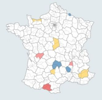 La carte des résultats du second tour