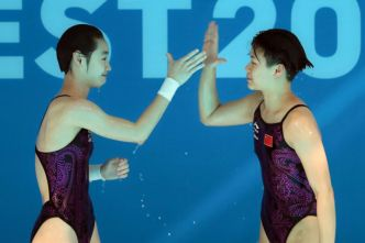 Natation:  la Chine encore en or au plongeon/3 m synchronisé dames