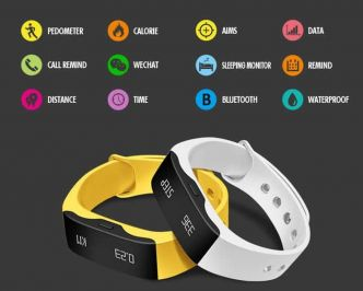 13€ la smart montre Sports SKMEI Real-time L28T port inclus (cardio-mètre, podomètre, étanche, appels, messages...)