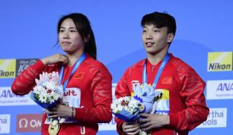 Natation: la Chine conserve l'or du plongeon/3 m synchronisé mixte