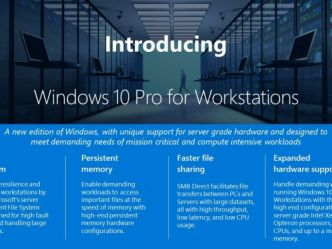 Windows 10  Pro s'offre une version Workstations dans Fall Creators