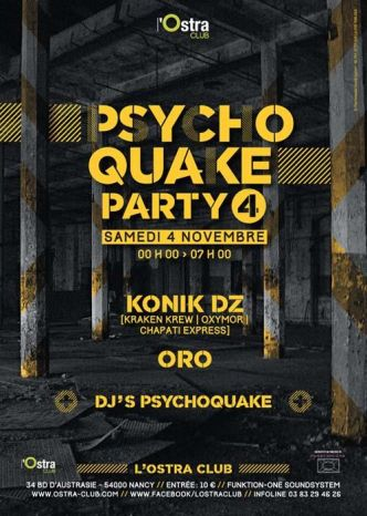 54 - Psychoquake Party #4 @ L'Ostra Club le 04/11/2017