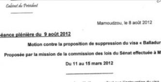 Daniel Zaïdani demande une nouvelle motion « contre la suppression du visa Balladur »