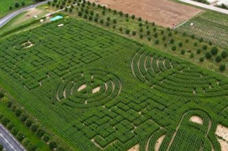 Labyrinthe insolite en plein air