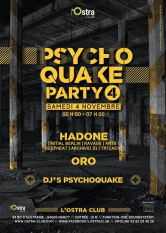 54 - Psychoquake Party#4 @ L'Ostra Club le 04/11/2017