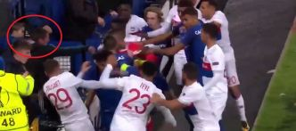 Football - Ligue Europa - Bagarre Everton-Lyon : le fan portant le bébé banni du stade
