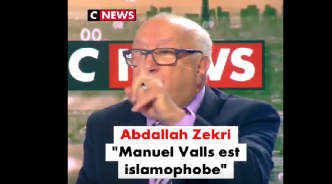 """Valls est un islamophobe !"", Abdallah Zekri massacre Valls en direct 