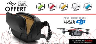 Bon plan : un sac Everyday Sling 5L Peak Design offert avec le kit drone DJI Spark Combo