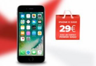Forfaits SFR en promo, iPhone 6 à 29 euros et prolongation forfait SFR Red à 10 euros