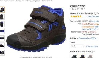 Chaussures GEOX NEW SAVAGE Enfants à 27.5€