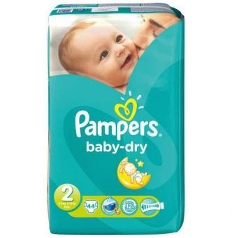 Auchan : Lot de 4 paquets géants (2 +2 gratuits) de couches Pampers Baby-Dry à 25,38 €