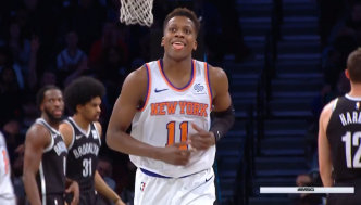 Frank Ntilikina tape son premier double-double en carrière : 10 points, 10 passes et 7 rebonds à Brooklyn !
